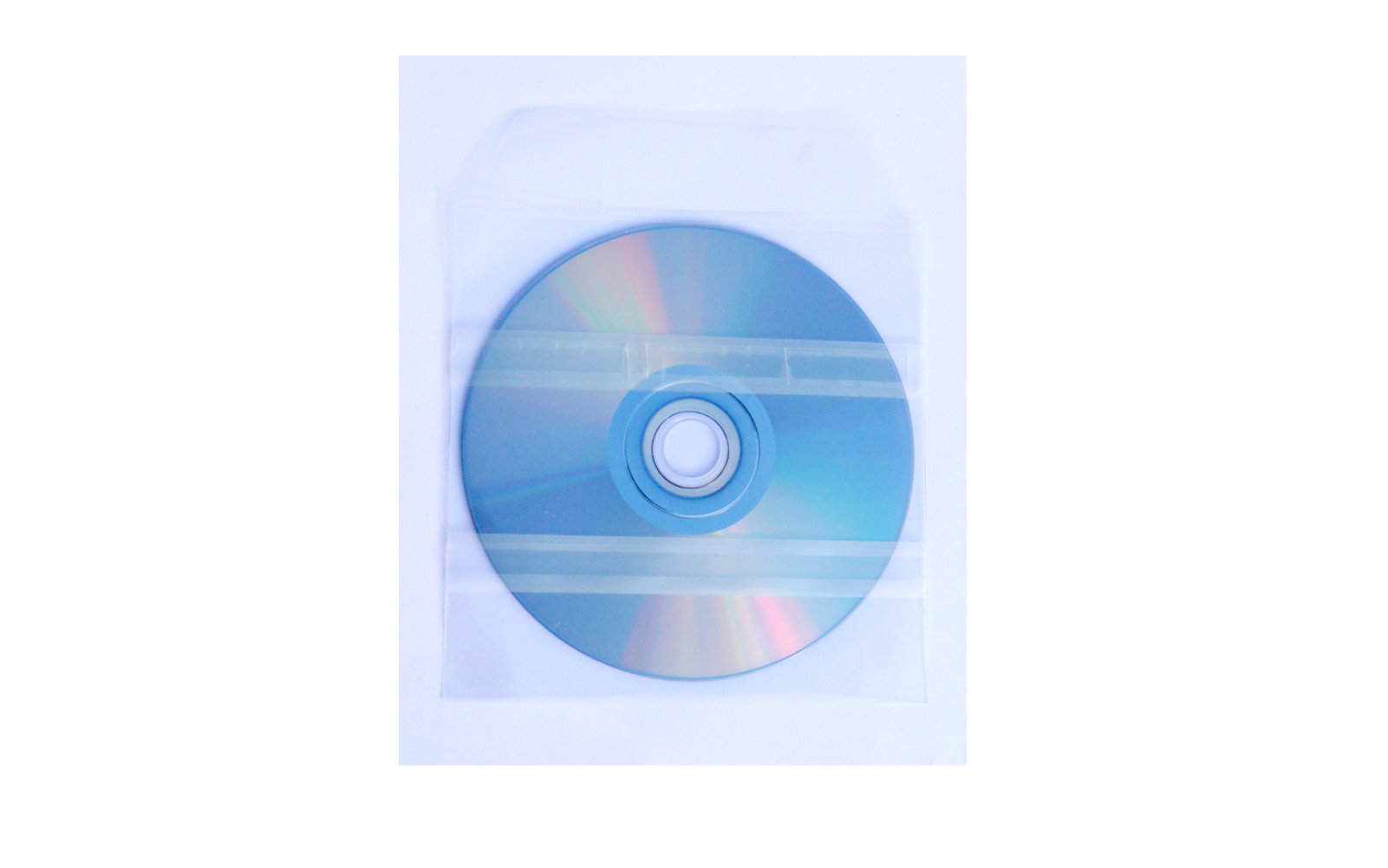 CD DVD in PVC Sleeve with 2 adhesive strip